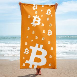Bitcoin Symbol Soft Beach Towel