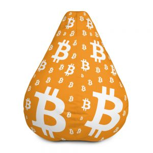 Bitcoin Symbol Bean Bag Chair w/ filling