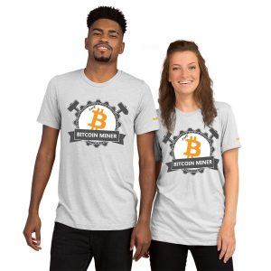 The Bitcoin Miner | Tri-Blend Unisex T-Shirt
