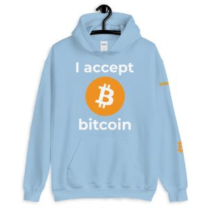 I Accept Bitcoin Hoodie | Customizable Heavy Unisex