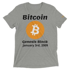 Bitcoin Genesis Block T-Shirt | Tri-Blend Unisex Customizable