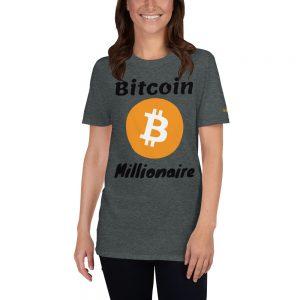 Bitcoin Millionaire T-Shirt | Softstyle Unisex Customizable