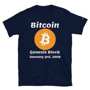 Bitcoin Genesis Block T-Shirt V2 | Softstyle Unisex Customizable