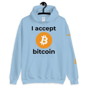 I Accept Bitcoin Hoodie V2 | Customizable Heavy Unisex Hoodie