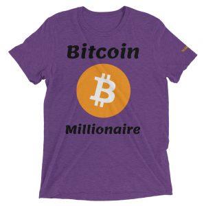 Bitcoin Millionaire T-Shirt | Tri-Blend Unisex Customizable