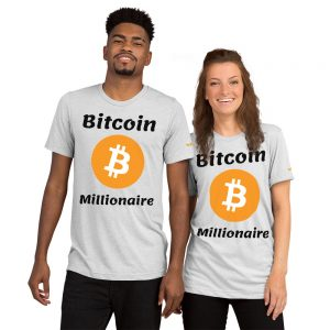 Bitcoin Millionaire T-Shirt | Tri-Blend Unisex Customizable
