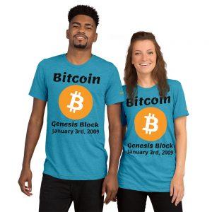 Bitcoin Genesis Block T-Shirt | Tri-Blend Unisex Customizable