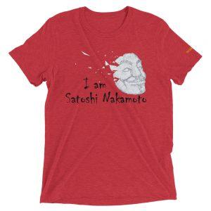 I Am Satoshi Nakamoto T-Shirt | Tri-Blend Unisex