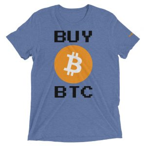Buy BTC T-Shirt | Tri-Blend Unisex Customizable