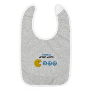 Verus Miner Baby Bib | Embroidered