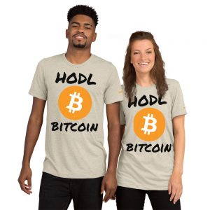 HODL Bitcoin T-Shirt | Tri-Blend Unisex Customizable