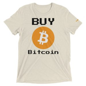 Buy Bitcoin T-Shirt | Tri-Blend Unisex Customizable