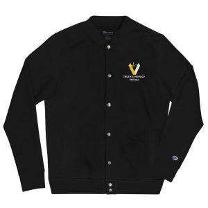 Verus Coin Embroidered Champion Bomber Jacket