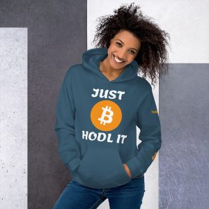 Just HODL It Bitcoin Hoodie | Customizable Heavy Unisex